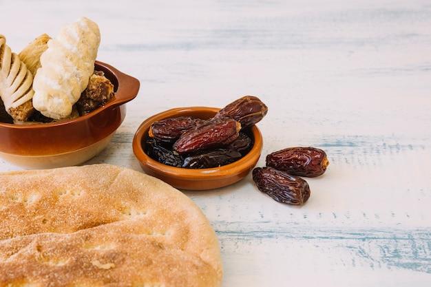 Arabische lebensmittelzusammensetzung mit daten für ramadan