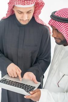 Arabische muslimische geschäftsleute