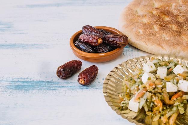 Arabische nahrungsmittelzusammensetzung für ramadan