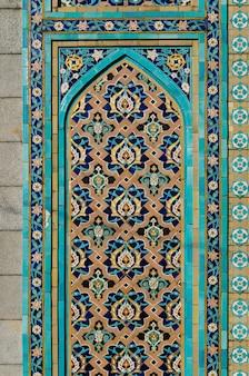 Arabische verzierung - dekoration einer moschee in st petersburg
