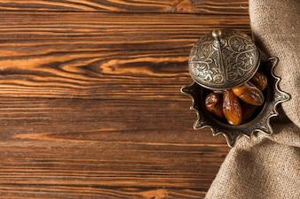 Arabisches essen für ramadan mit exemplar