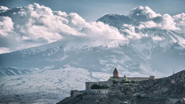 Ararat berg und khor virap - armenien