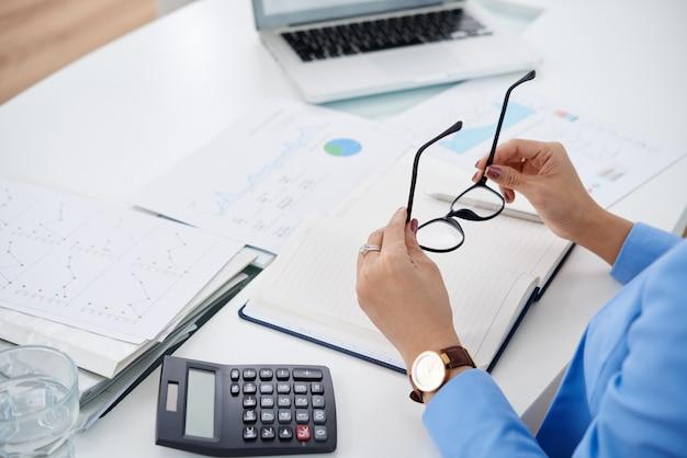 Arbeiten mit finanzdokumenten