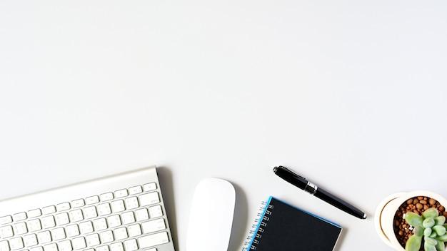 Arbeiten mit laptop-computer und kaktus copyspace auf tabellenhintergrund. unternehmenskonzept