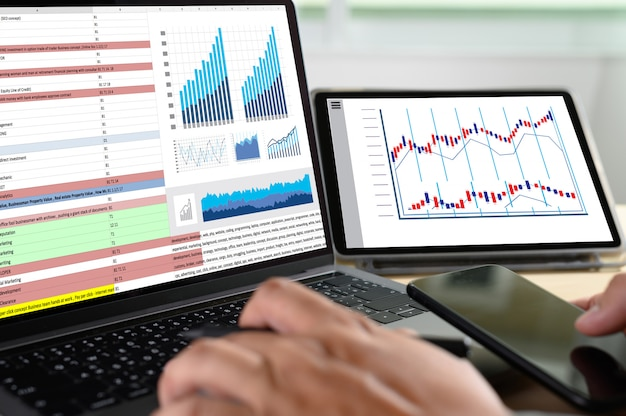 Arbeiten sie hart data analytics statistics information