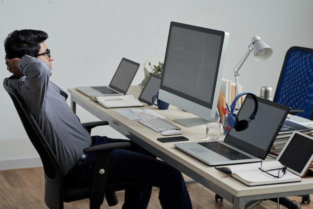 Arbeitender programmierer