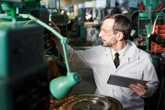 Arbeiter bei modern plant
