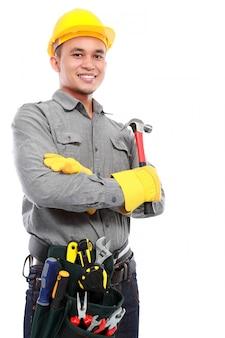 Arbeiter bereit zu arbeiten