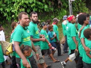 Arbeiter gehen gegen korruption