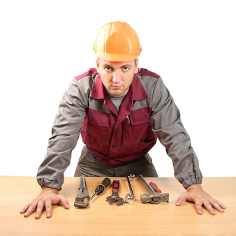 Arbeiter mit werkzeugen