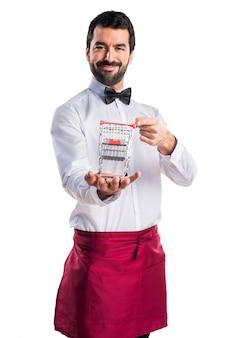 Arbeiter supermarkt hübscher butler glücklich