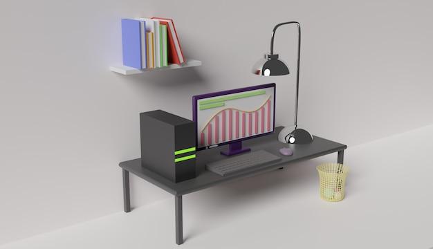 Arbeitsbereich 3d-rendering