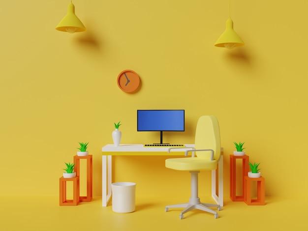 Arbeitsbereich hintergrunddesign 3d-darstellung
