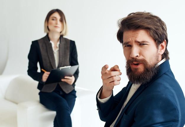 Arbeitskollegen kommunikationsbürofachleute team heller hintergrund