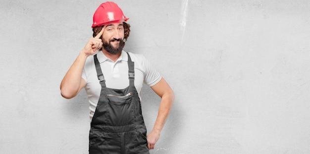 Arbeitskraft des jungen mannes verwirrte ein denken