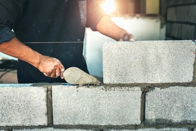 Arbeitskraftgebäude-wandziegelsteine mit zement