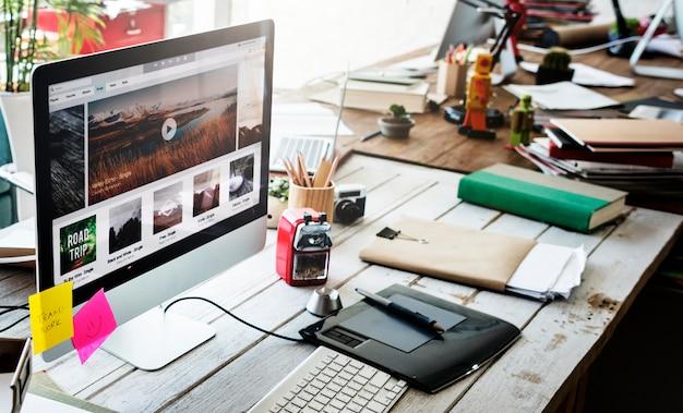 Arbeitsplatz-startunternehmens-management-planungs-konzept