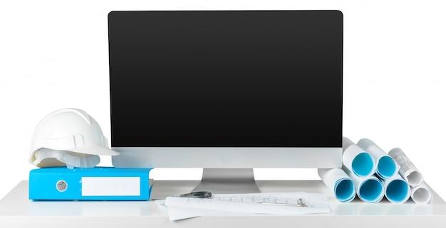 Arbeitsplatzarchitekt mit computer