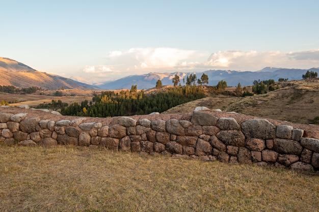 Archäologisches zentrum von puka pukara, cusco, peru