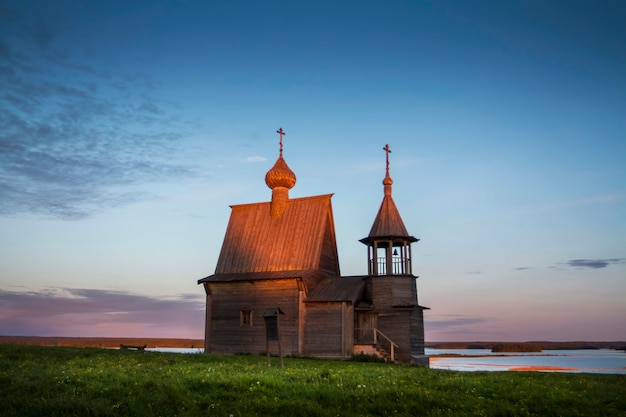 Archangelsk oblast, ein dorf vershinino, st. nicholas kapelle. kenozero nationalpark