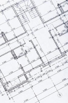 Architekt arbeitsplatz draufsicht.