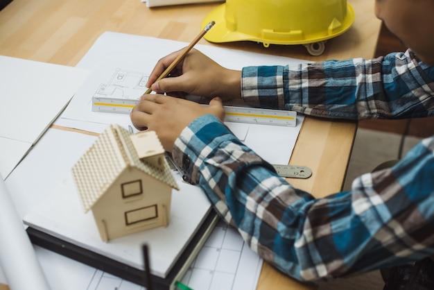 Architekt design projekt diskussionskonzept