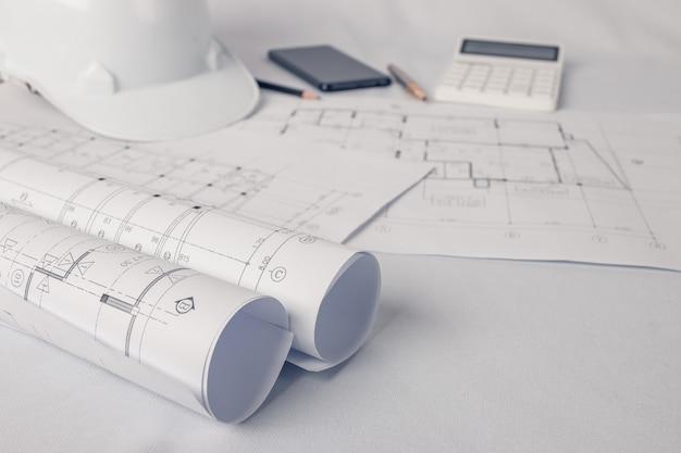Architekt, ingenieur konzept, repräsentiert den arbeitsstil von architekten
