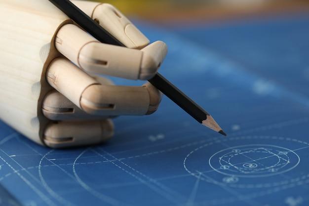 Architekt skizzieren und bauvorhaben