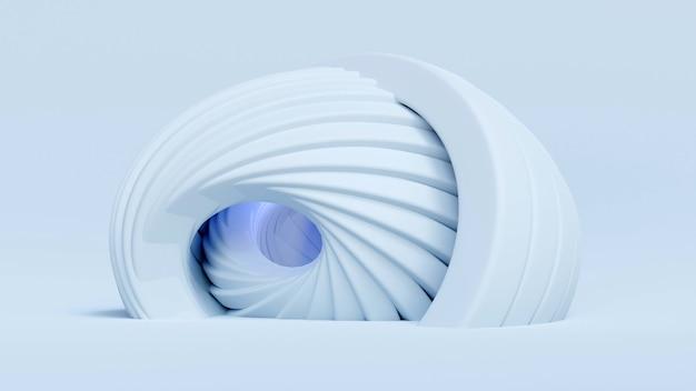 Architektonischer hintergrund. abstrakte 3d-darstellung.