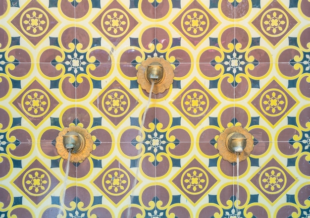 Architektur brunnen dekoration marokko stil