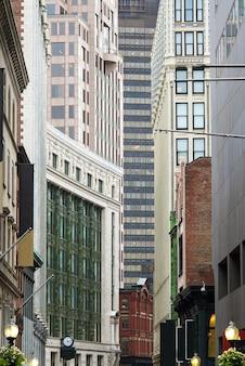 Architektur buildins in der stadt von boston im stadtzentrum gelegen