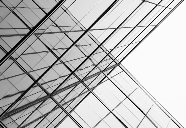 Architektur der geometrie am glasfenster - einfarbig