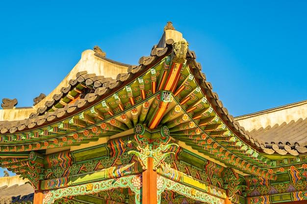 Architektur, die changdeokgungs-palast in seoul-stadt errichtet