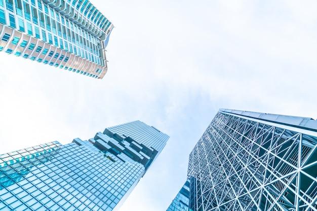Architektur-geschäftsbürogebäude außenwolkenkratzer