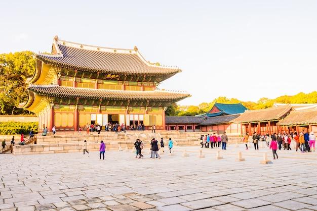 Architektur im changdeokgung-palast in seoul-stadt in korea
