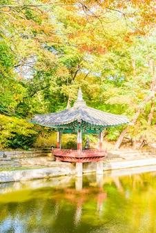 Architektur in changdeokgung palace in seoul city in korea