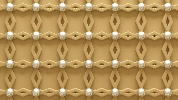 Architektur, innenmuster, weiße, gelbe, goldene texturwand. 3d-rendering.