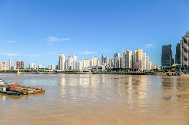 Architektur skyline von wenzhou, zhejiang