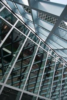 Architekturdetail der seattle-zentralbibliothek, seattle, staat washington, usa