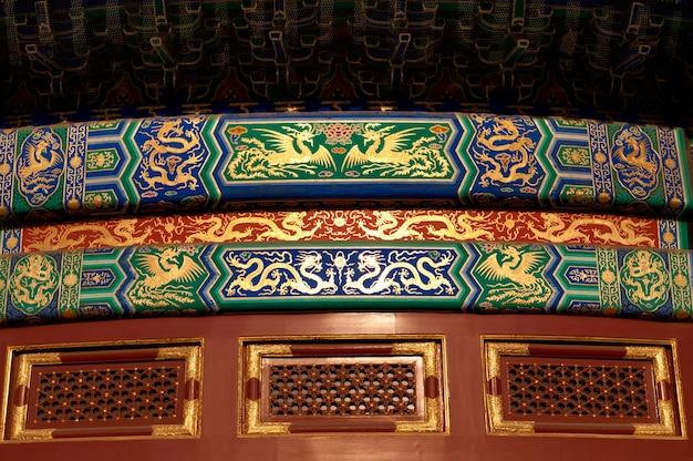 Architekturdetails von hall of prayer für gute ernten am himmelstempel, peking, china