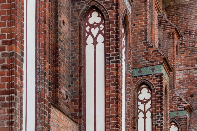 Architekturelemente der gotischen kathedrale
