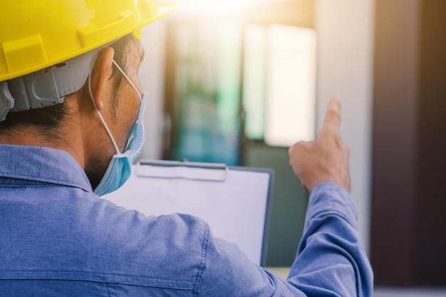 Architekturingenieur ingenieurinspektion vor ort hochbau