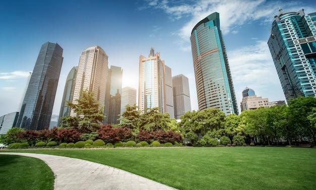 Architekturlandschaft des finanzviertels lujiazui, shanghai