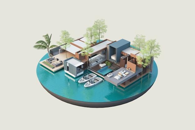 Architekturpläne und innendekoration rendern