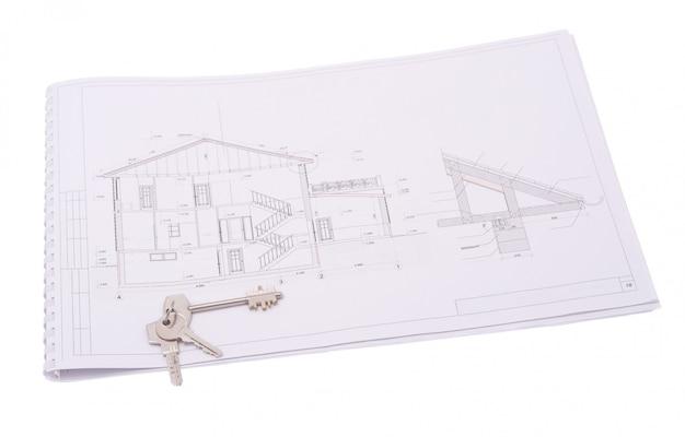 Architekturzeichnungen des modernen hauses
