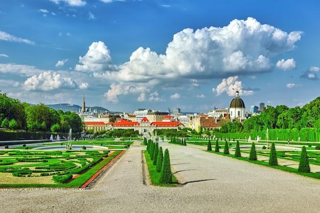 Areal der park-garten-anlage belvedere.wien. österreich.