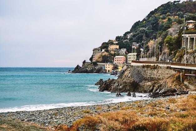 Arenzano stadt und strand