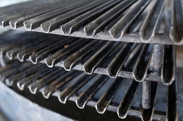 Argentinischer grill aus der nähe.
