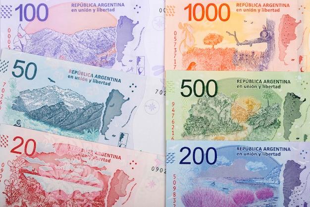 Argentinischer peso ein geschäftshintergrund
