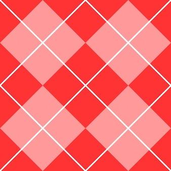 Argyle muster linie rosa quadrate